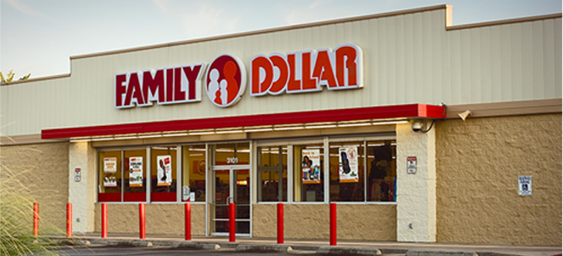 Family Dollar Store in Melrose, FL.